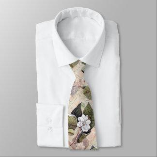 Cravate Magnolia vintage élégante de monsieur du sud