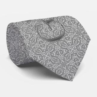 Cravate Mariage damassé argenté pour le marié