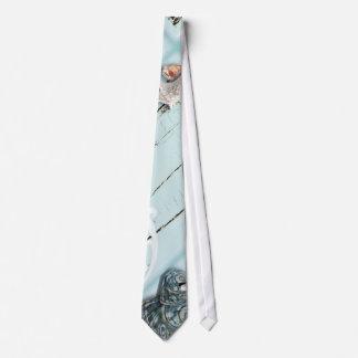 Cravate Mariage de plage bleu en bois élégant de