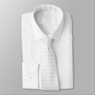 Cravate mariage gris de conception de motif de zigzag et