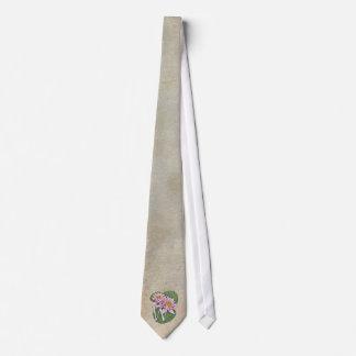 Cravate Monogramme de fleur de nénuphar de W