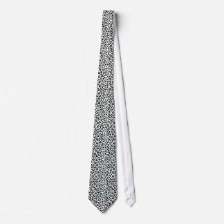 Cravate Monogramme noir et blanc chic d'impression de