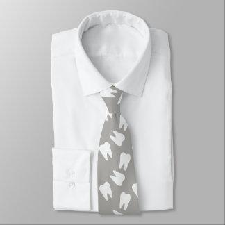 Cravate Motif blanc de dent de dentiste dentaire