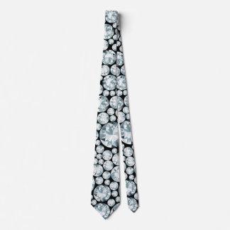 Cravate Motif blanc exagéré de diamant