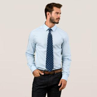 Cravate Motif bleu-foncé et de Rose d'or de scintillement