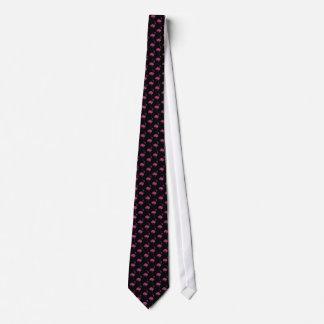 Cravate Motif carrelé par flamants roses de scintillement