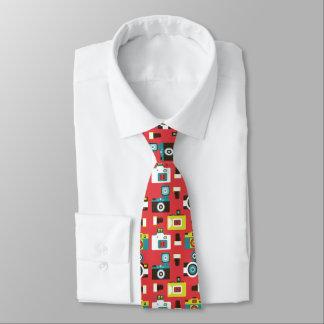 Cravate Motif coloré d'appareils-photo de Lomo d'amusement
