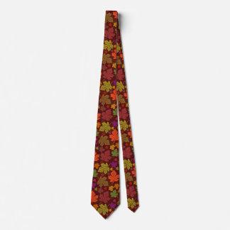 Cravate Motif de feuille d'érable d'automne de chute