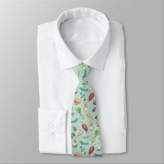 Cravate Motif de légume et d'épices d'aquarelle