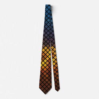 Cravate Motif de mosaïque coloré à la mode