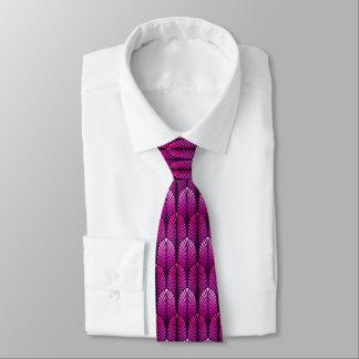 Cravate Motif de plume d'art déco, pourpre d'améthyste