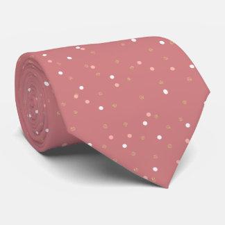 Cravate motif de pois rose élégant de rose de