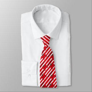 Cravate Motif de rayures de rouge de M. Strong |