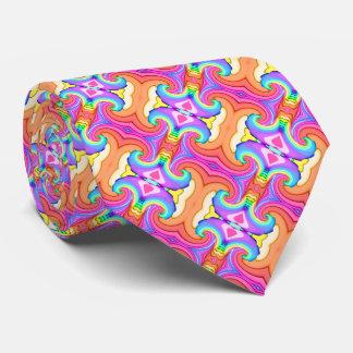 Cravate Motif de remous de couleurs en pastel de fractale