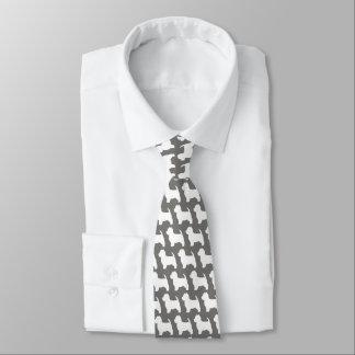 Cravate Motif de silhouettes de Terrier blanc de montagne