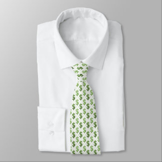 Cravate Motif de symbole dollar