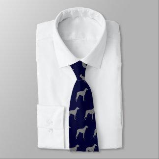 Cravate Motif écossais de silhouettes de limier