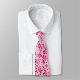 Cravate Motif floral de trellis des roses de thé sur le