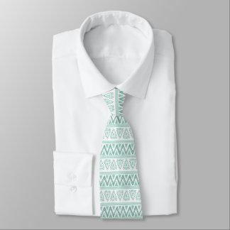 Cravate Motif géométrique tribal Menthe-Vert moderne