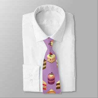 Cravate Motif illustré par gâteaux mignons de thé et
