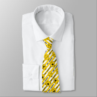 Cravate Motif jaune de rayures de M. Happy |