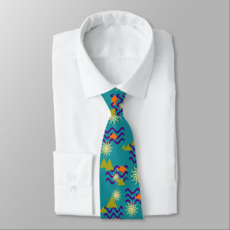 Cravate Motif moderne de symboles de la terre de nature