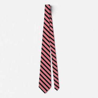 Cravate motif noir et saumoné de couleur