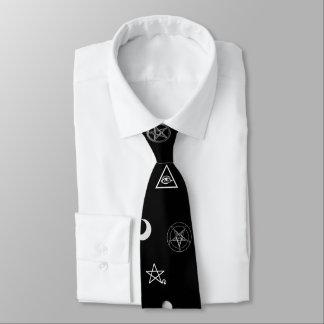 Cravate Motif occulte gothique de symboles