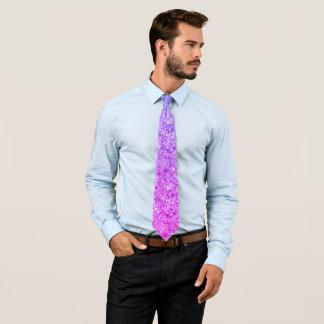 Cravate Motif rose et pourpre de parties scintillantes de