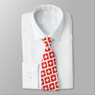 Cravate Motif suisse de drapeau