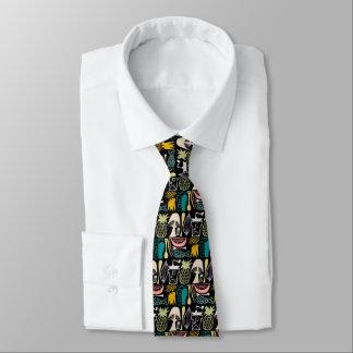 Cravate Motif vintage de Pyrex - cuisine de mod (couleurs