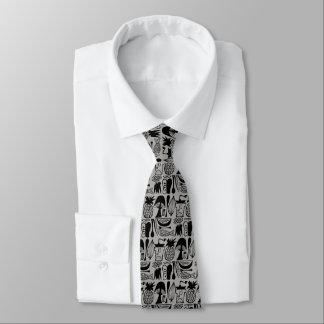 Cravate Motif vintage de Pyrex - cuisine de mod (noir)