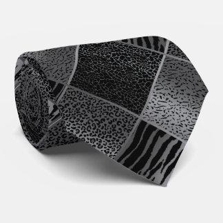 Cravate Motifs gris exotiques d'animal de safari