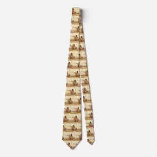 Cravate Natif américain vintage, artiste indien par Couse