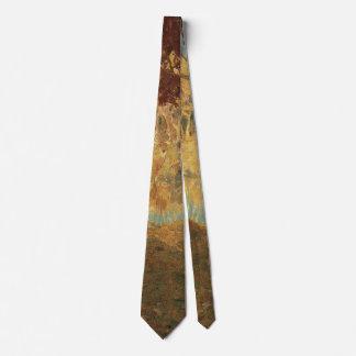 Cravate Natif américain vintage, chassant pour des cerfs
