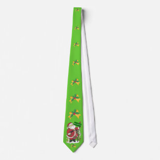 Cravate Noël d'arc de houx d'animaux de Père Noël Joyeux