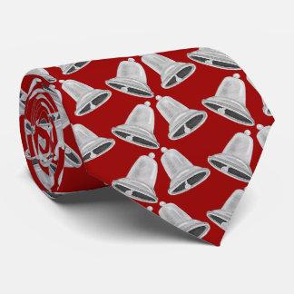 Cravate Noël de Bells argentées