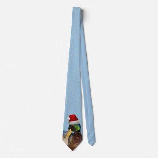 Cravate Noël de canard de Père Noël Mallard