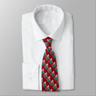 Cravate Noël de père a barré les cadeaux enveloppés par