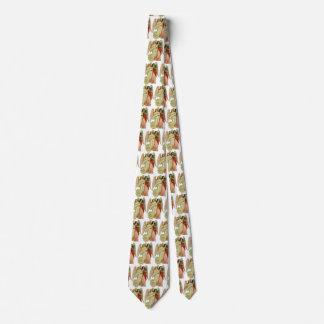 Cravate Noël vintage, ange victorien antique découpé avec
