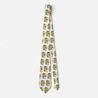 Cravate Noël vintage, anges victoriens angéliques