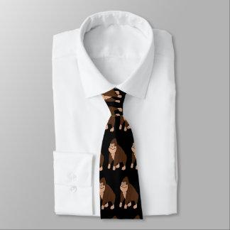 Cravate Noir de conception de gorille