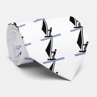 Cravate Noir de planche à voile à bord, planche à voile