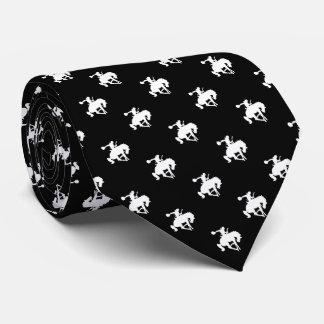 Cravate Noir du motif | de cowboy de rodéo