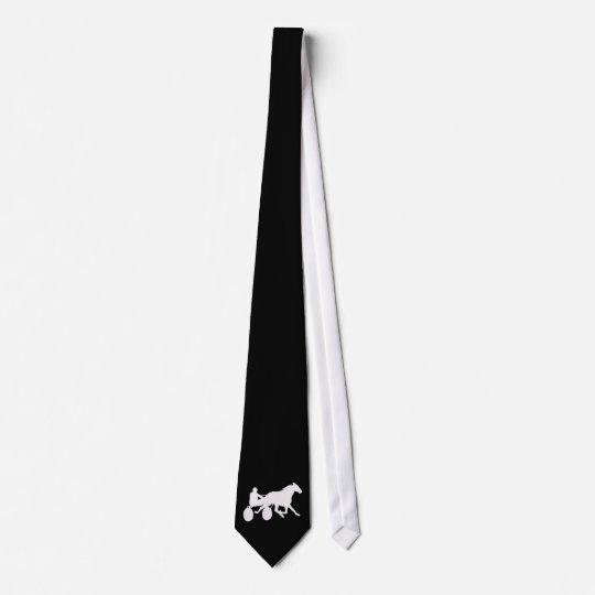 Cravate noire avec le logo de trotteur