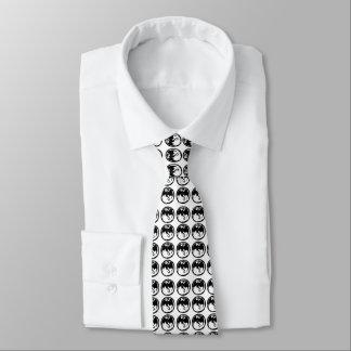 Cravate noire d'affaires de dragons (2-sided)