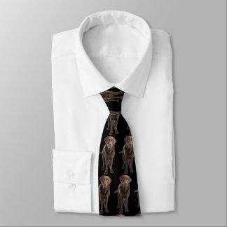 Cravate noire de chien de Labrador