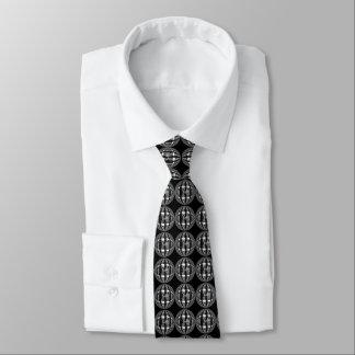 Cravate noire de chrome de globe