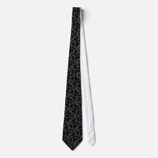 Cravate noire d'empreinte de léopard