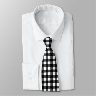 Cravate noire et blanche de contrôle de Buffalo
